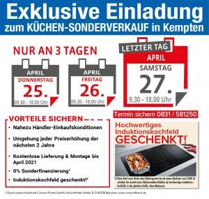 Exklusive Vorteile sichern beim super-günstigen Kuechen-Sonderverkauf bei Küchen Mayer in 87435 Kempten